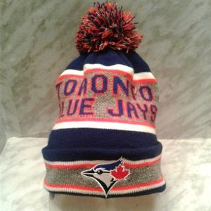 Toronto Blue Jays Cuffed Toque pom Knit Hat cap